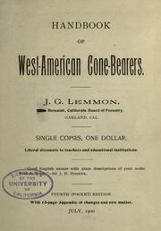Hand-book of West-American cone-bearers by John Gill Lemmon