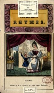 Cover of: Nursery rhymes |