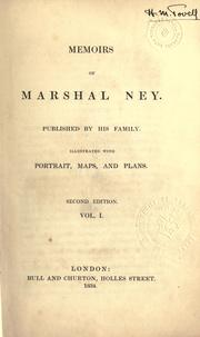 Cover of: Memoirs of Marshal Ney, published by his family