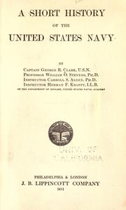 Cover of: A short history of the United States navy