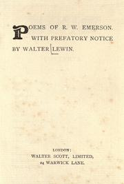 Cover of: Poems of R. W. Emerson