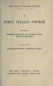 Cover of: A first Italian course