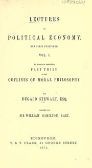 Cover of: Lectures on political economy