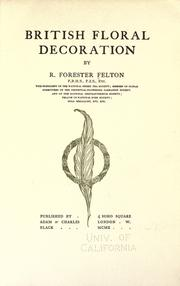 Cover of: British floral decoration