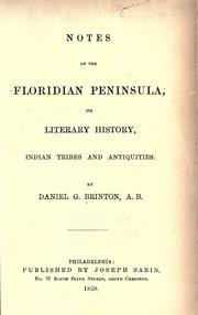 Cover of: Notes on the Floridian Peninsula
