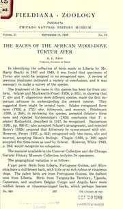 Cover of: The races of the African wood-dove Turtur afer