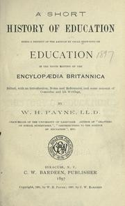 Cover of: A short history of education