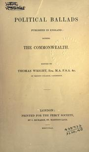 Cover of: Political ballads published in England during the commonwealth