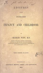 Cover of: Lectures on the diseases of infancy and childhood