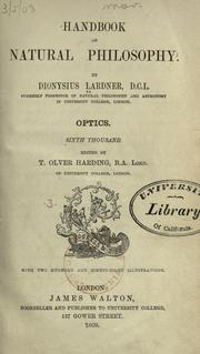 Handbook of natural philosophy by Dionysius Lardner