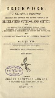 Cover of: Brickwork
