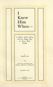 Cover of: I knew him when