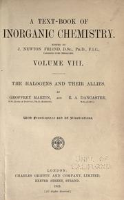 The halogens and their allies by Martin, Geoffrey
