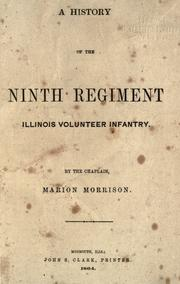 Cover of: A history of the Ninth Regiment, Illinois Volunteer Infantry