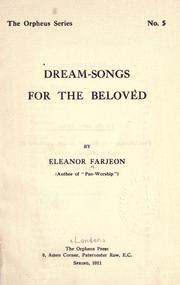 Cover of: Dream-songs for the beloved