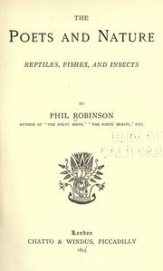 Cover of: The poets and nature: reptiles, fishes, and insects.