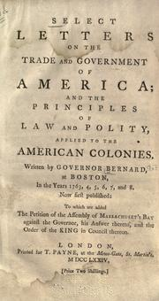 Cover of: Select letters on the trade and government of America