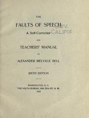 Cover of: The faults of speech