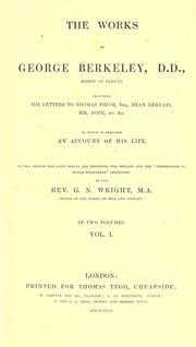 Cover of: The works of George Berkeley
