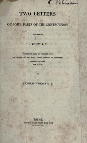 Cover of: Two letters on some parts of the controversy concerning 1. John v. 7
