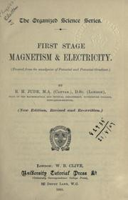 Cover of: First stage magnetism and electricity