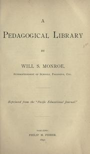 Cover of: A pedagogical library