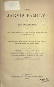 Cover of: The Jarvis family