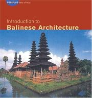 Cover of: Introduction to Balinese architecture