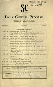 Cover of: Daily official program