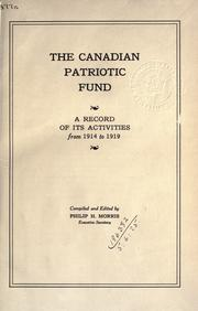 Cover of: The Canadian Patriotic Fund