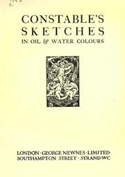 Cover of: Constable's sketches in oil & water colours