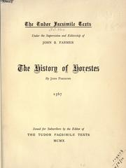 Cover of: The history of Horestes