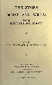 Cover of: The story of Burke and Wills