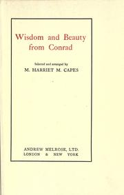 Cover of: Wisdom and beauty from Conrad