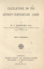 Cover of: Calculations on the entropy-temperature chart