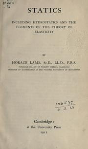 Statics by Lamb, Horace Sir