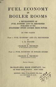 Cover of: Fuel economy in boiler rooms