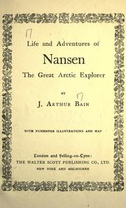 Cover of: Life and adventures of Nansen the great Arctic explorer