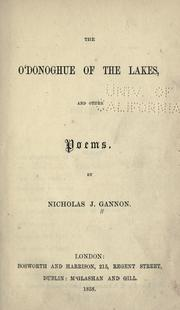 Cover of: The O'Donoghue of the lakes