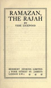 Cover of: Ramazan, the Rajah