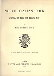 Cover of: North Italian folk, sketches of town and country life