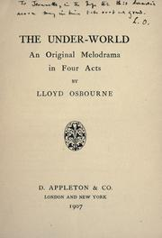 Cover of: The under-world