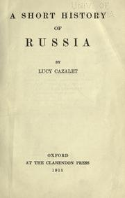 Cover of: A short history of Russia