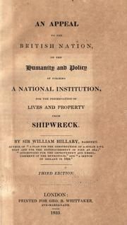Cover of: An appeal to the British nation on the humanity and policy of forming a national institution for the preservation of lives and property from shipwreck