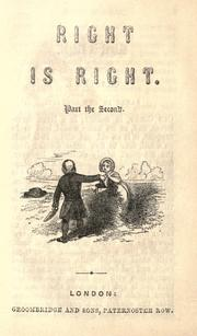 Cover of: Right is right. Part the second |