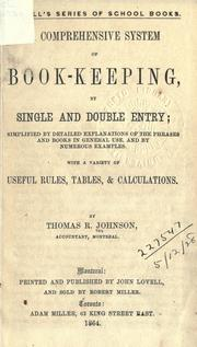 Cover of: A comprehensive system of book-keeping, by single and double entry