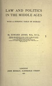 Law and politics in the middle ages by Edward Jenks
