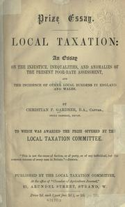 Cover of: Local taxation