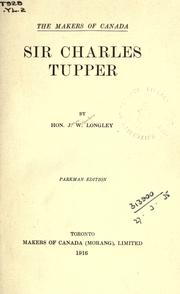 Cover of: Sir Charles Tupper