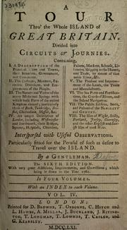 Cover of: Tour thro' the whole island of Great Britain | Daniel Defoe